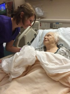 UW Madison student and CNA Cassi Brucker with her grandmother