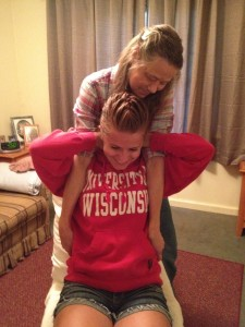 UW student Indi Yeager with her chiropractor