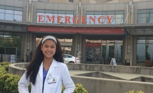 Nancy Ly at the Summer Medical & Dental Education Program at Duke University.